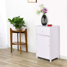 Load image into Gallery viewer, White Wood Bathroom Storage Floor Cabinet with Water Resistant Finish
