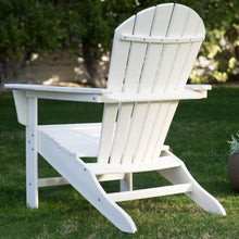 Load image into Gallery viewer, Outdoor Weather Resistant Patio Deck Garden Adirondack Chair in White Resin