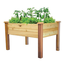 Load image into Gallery viewer, Elevated 2Ft x 4-Ft Cedar Wood Raised Garden Bed Planter Box - Unfinished
