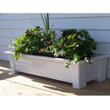 Load image into Gallery viewer, Lightweight Durable Plastic Resin Rectangular Garden Planter in White