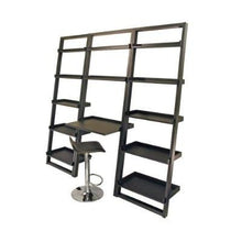 Load image into Gallery viewer, Set of 2 Modern Air-Lift Adjustable Bar Stools with Black Seat