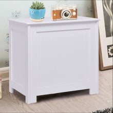 Load image into Gallery viewer, Bathroom Laundry Hamper Clothes Storage Cabinet in White