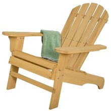 Load image into Gallery viewer, Yellow Wood Adirondack Chair for Patio Garden Outdoor