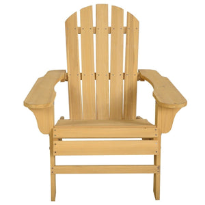 Yellow Wood Adirondack Chair for Patio Garden Outdoor