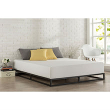 Load image into Gallery viewer, Queen size 6-inch Low Profile Metal Platform Bed Frame with Wooden Slats