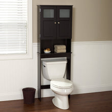Load image into Gallery viewer, Espresso Bathroom Storage Unit Cabinet for Over the Toilet
