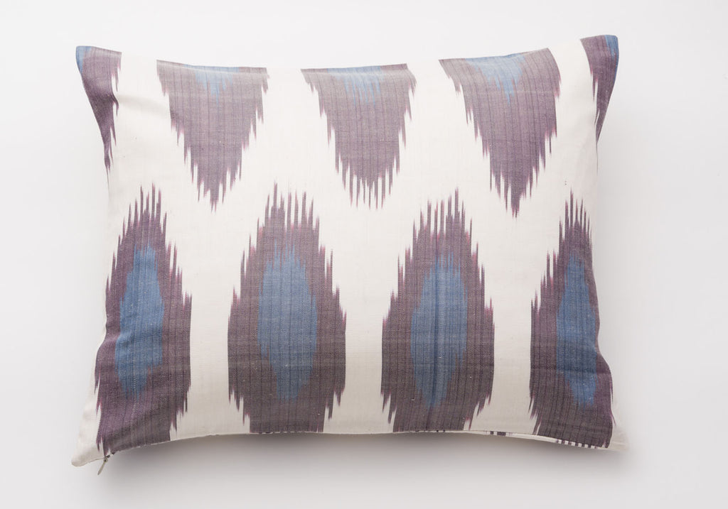 ikat decorative throw pillows purple u0026 blue