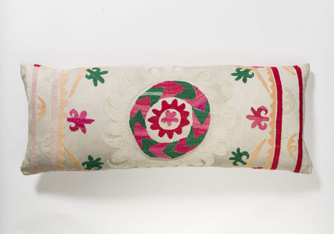 Suzani Pillow - Pink Flower