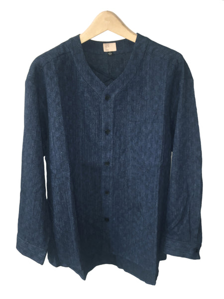 Indigo Checkerboard Pique Shirt