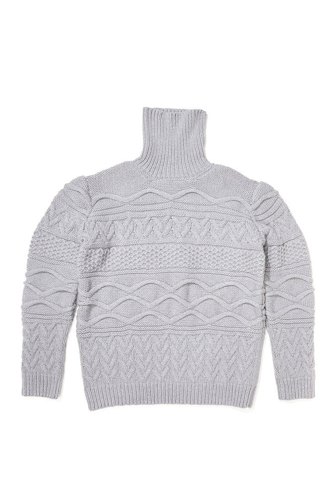 Hobo Cable Knit Turtle Neck