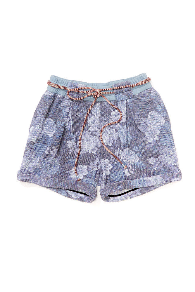 Women's Floral Pleated Short