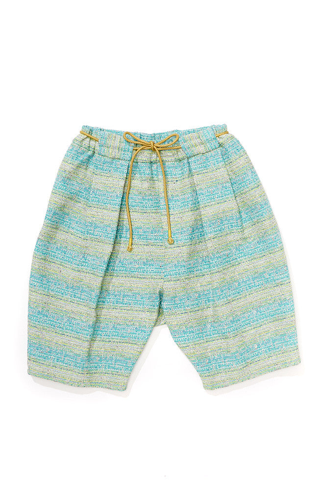 Jacquard Box Pleated Beach Short