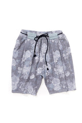 Floral Box Pleated Beach Short
