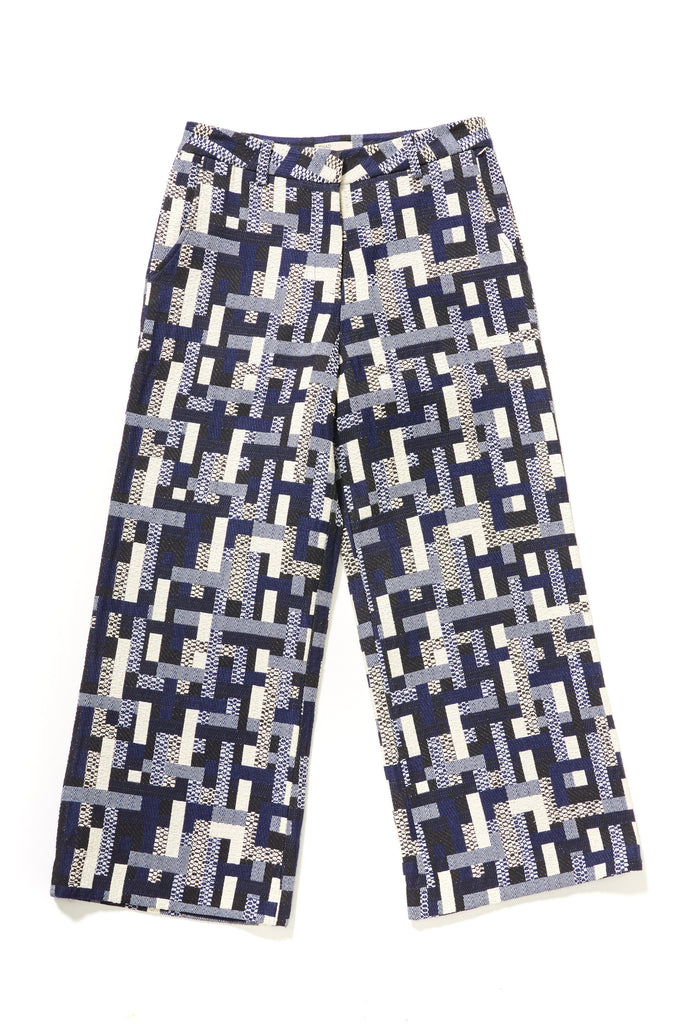 Tetris High Waist Wide Leg Pant