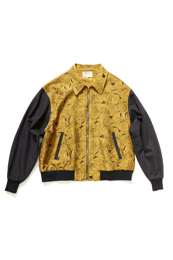 Electric Palm Jacquard Oversized Bomber Jacket