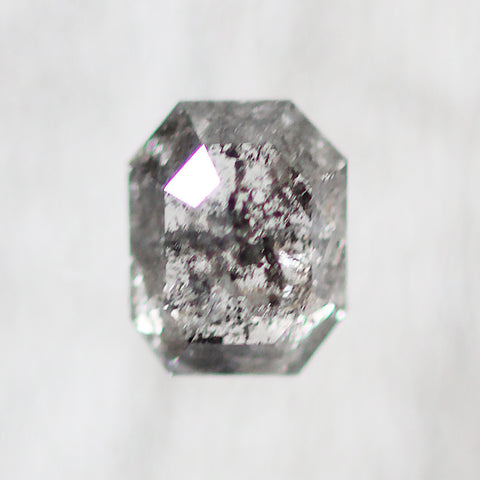 .81 carat emerald cut rose cut dark black celestial diamond for custom work - inventory code: BE81