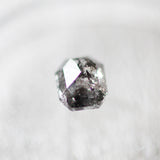 .81 carat  rose cut dark black celestial diamond for custom work - inventory code: BE81