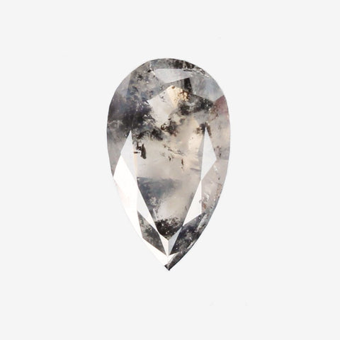 1.02 carat translucent gray champagne pear diamond for custom work -  inventory code GCP102B