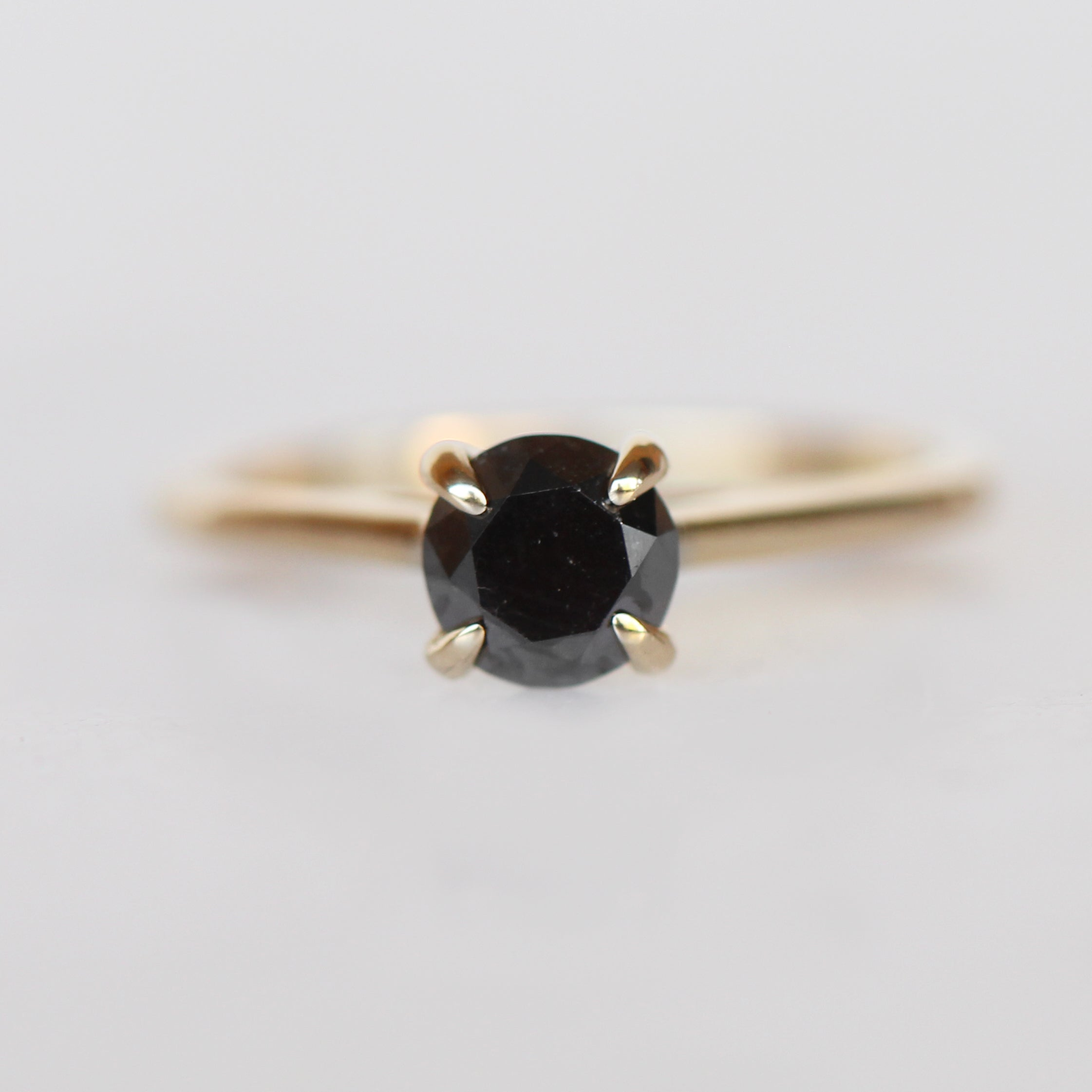 Elle - 1 carat Black diamond ring - Your choice of gold - Celestial Diamonds ® by Midwinter Co.