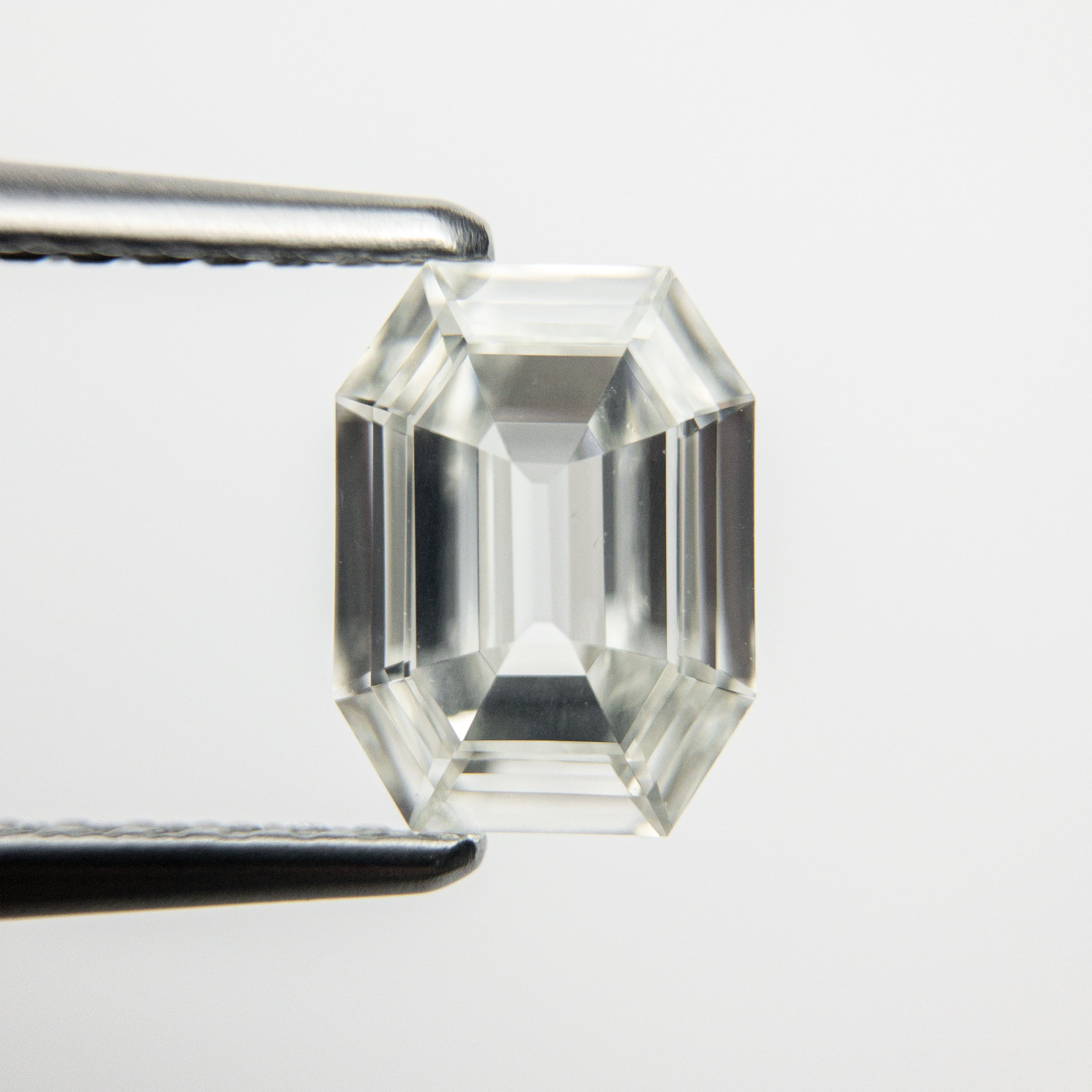 1.01ct GIA Certified VS2 G color natural emerald cut diamond for custom work - inventory code ECWG101 - Salt & Pepper Celestial Diamond Engagement Rings and Wedding Bands  by Midwinter Co.