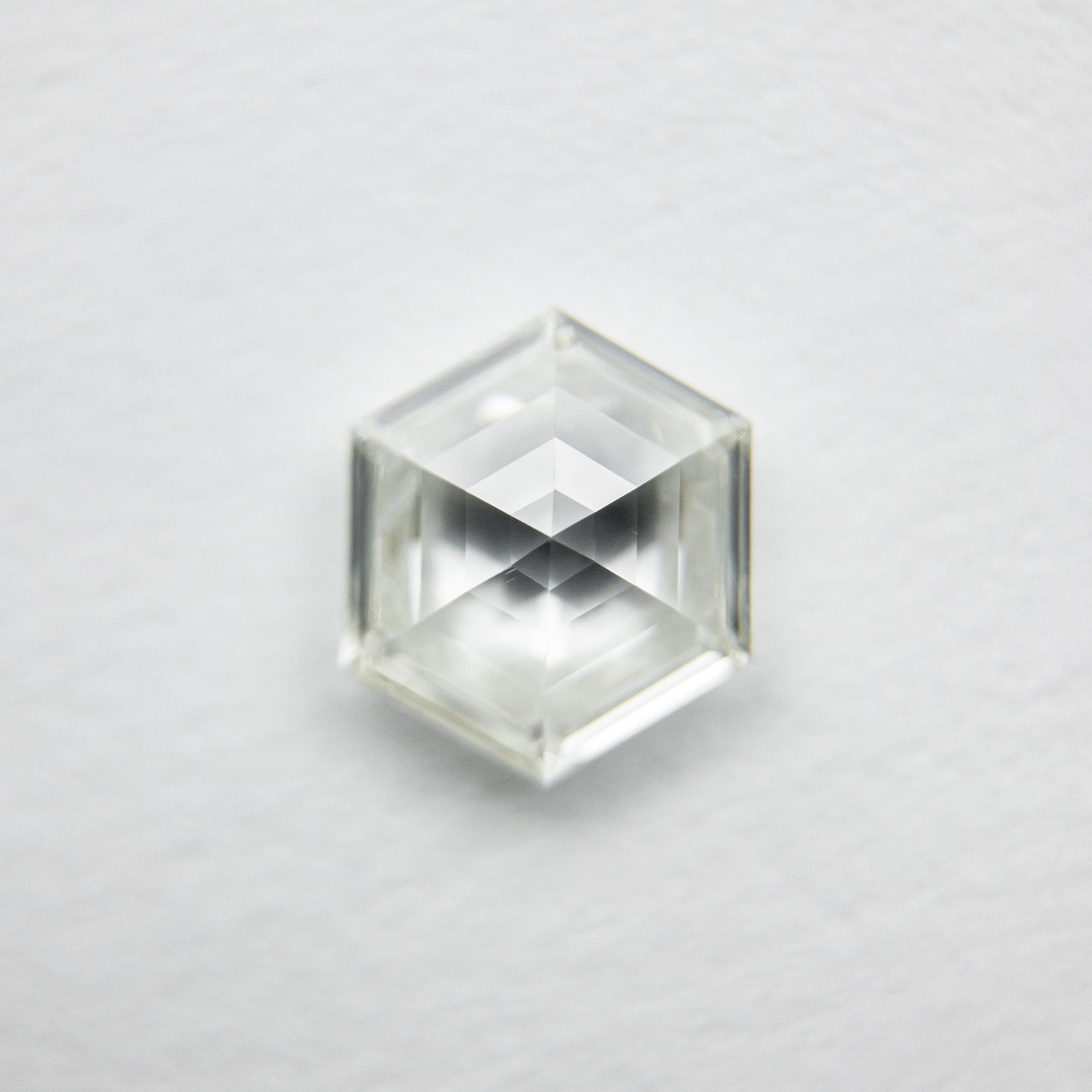 .77 carat Natural Diamond Clear White Hexagon Geometric Diamond for custom work - Inventory code HEXWC77 - Salt & Pepper Celestial Diamond Engagement Rings and Wedding Bands  by Midwinter Co.