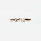 Aubrey Medium Celestical Gray and White Diamond Accents in 10k Rose Gold