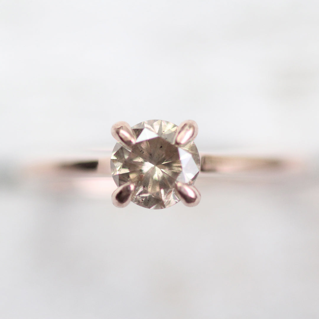 Elle Setting - Salt & Pepper Celestial Diamond Engagement Rings and Wedding Bands  by Midwinter Co.