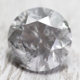 3.08 carat 9mm misty gray diamond - Midwinter Co. studio inventory code: MG3
