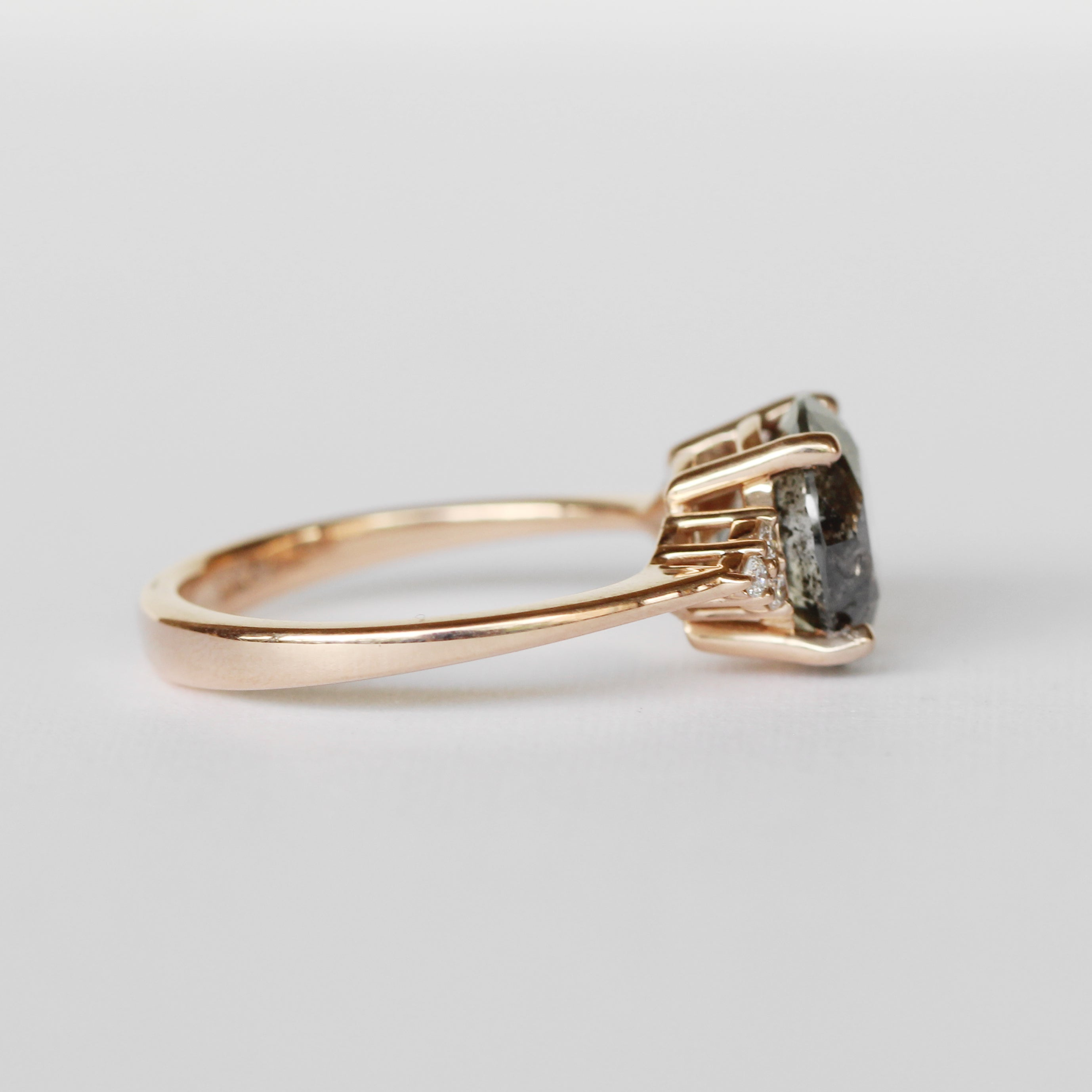 Imogene Ring with a 3.13 ct Celestial Diamond in 14k Rose Gold - Ready to Size and Ship - Celestial Diamonds ® by Midwinter Co.