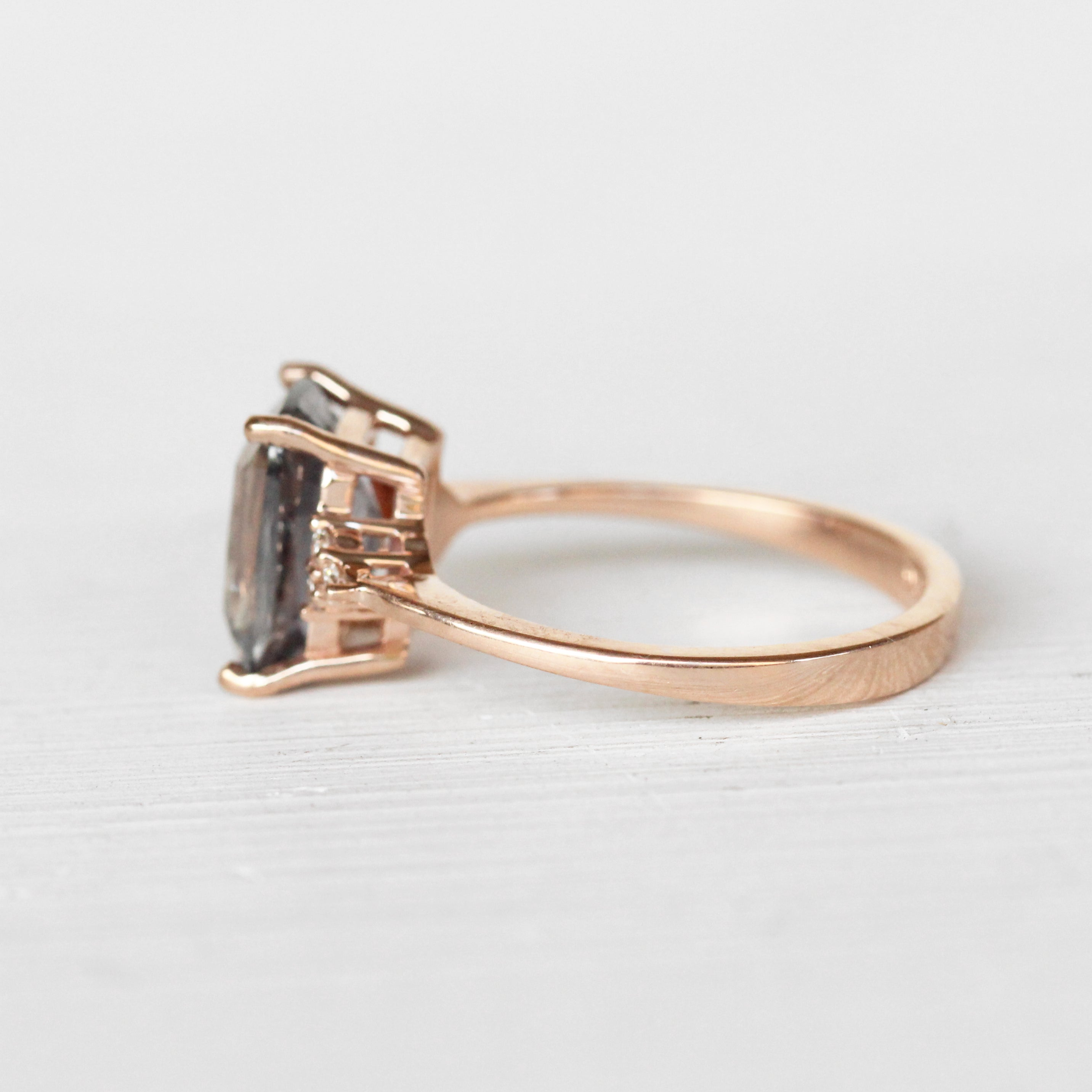 Imogene Ring with a 3.87ct Sapphire in 10k Rose Gold - Ready to Size and Ship