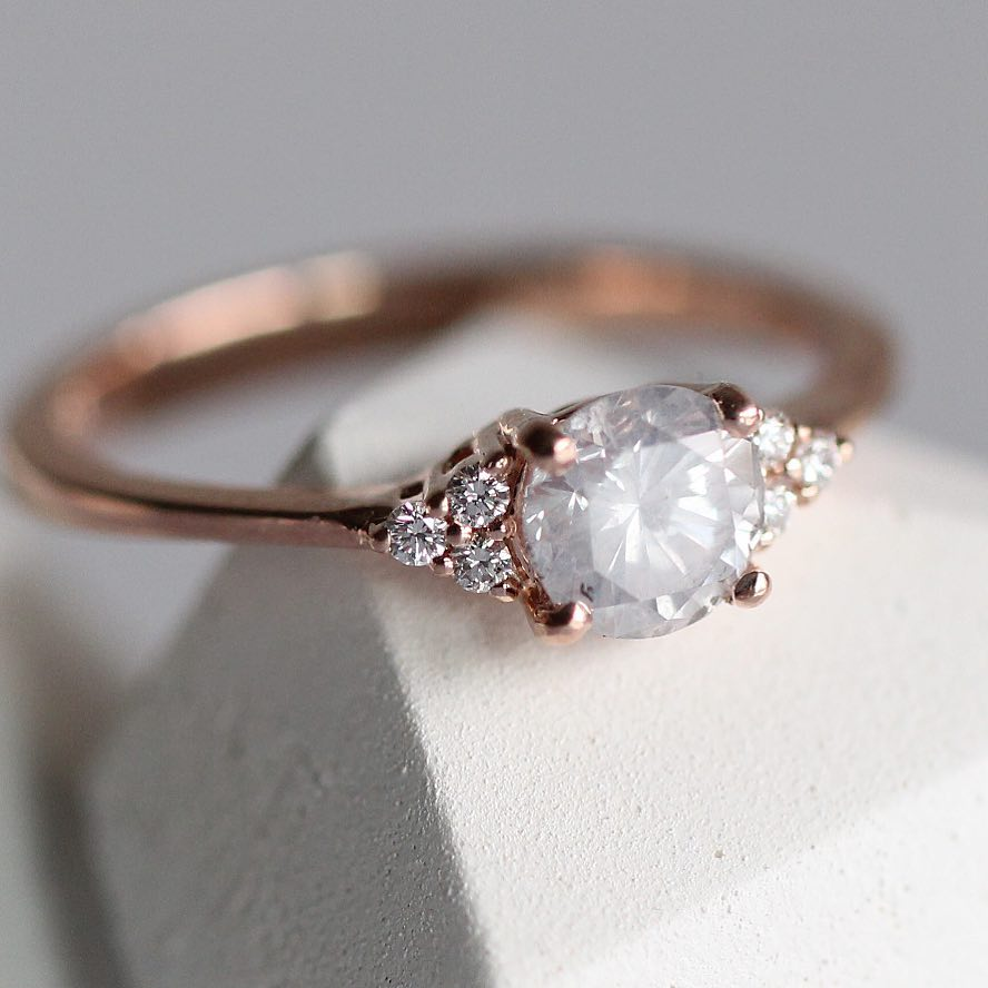 Customize me! - Misty White Imogene Ring - Your choice! - Celestial Diamonds ® by Midwinter Co.