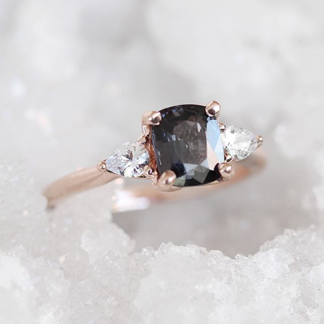 Customize me! - Spinel and Sapphire Oleander Ring - Your choice! - Midwinter Co. Alternative Bridal Rings and Modern Fine Jewelry