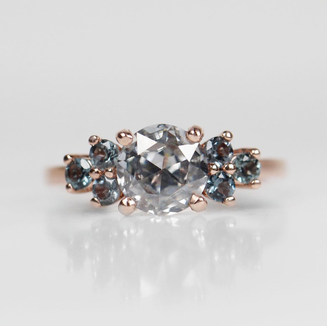 Customize me! - Moissanite and Spinel Veragene ring - your choice! - Celestial Diamonds ® by Midwinter Co.