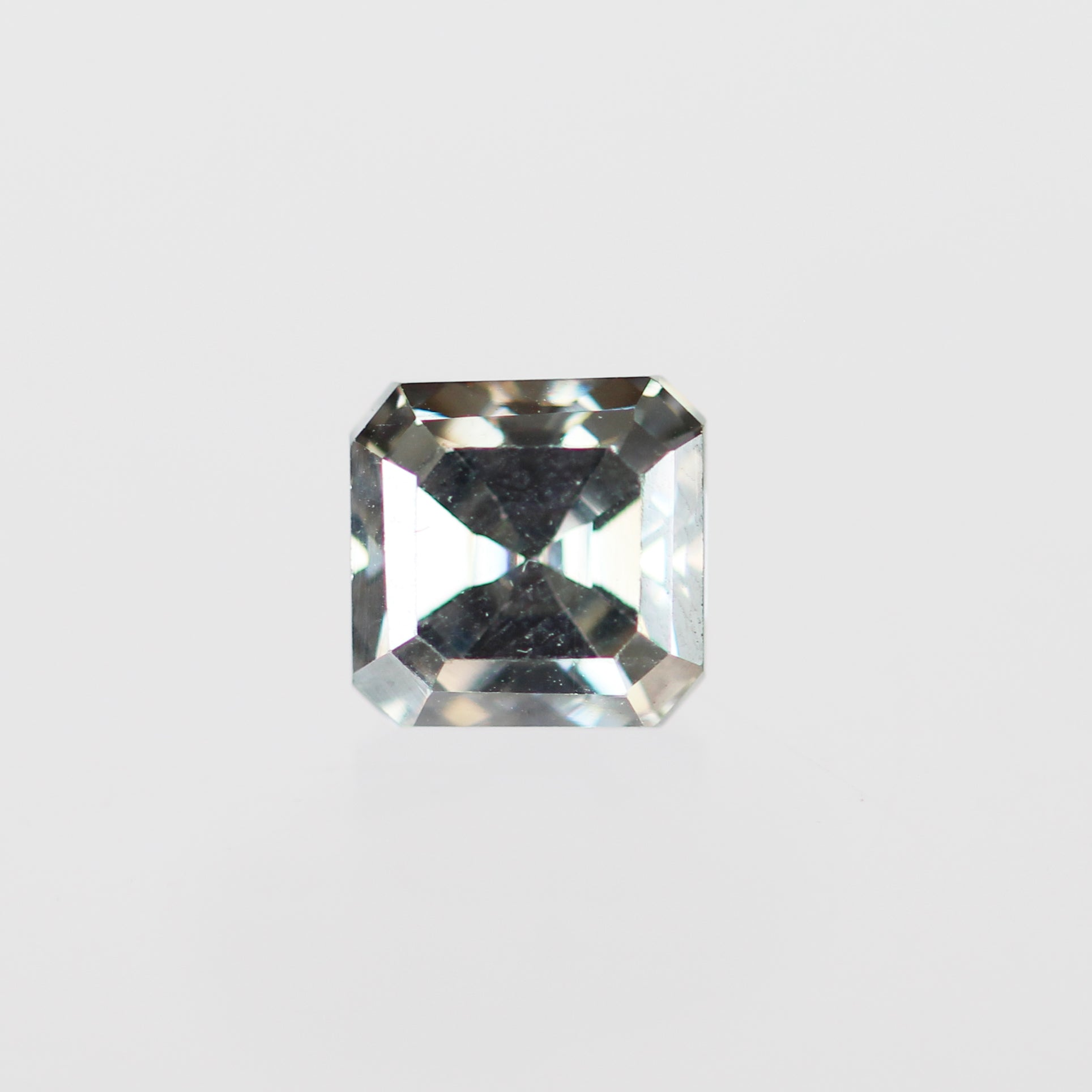 1.64 Carat Asscher Moissanite for Custom Work - Inventory Code ABMOI164 - Salt & Pepper Celestial Diamond Engagement Rings and Wedding Bands  by Midwinter Co.
