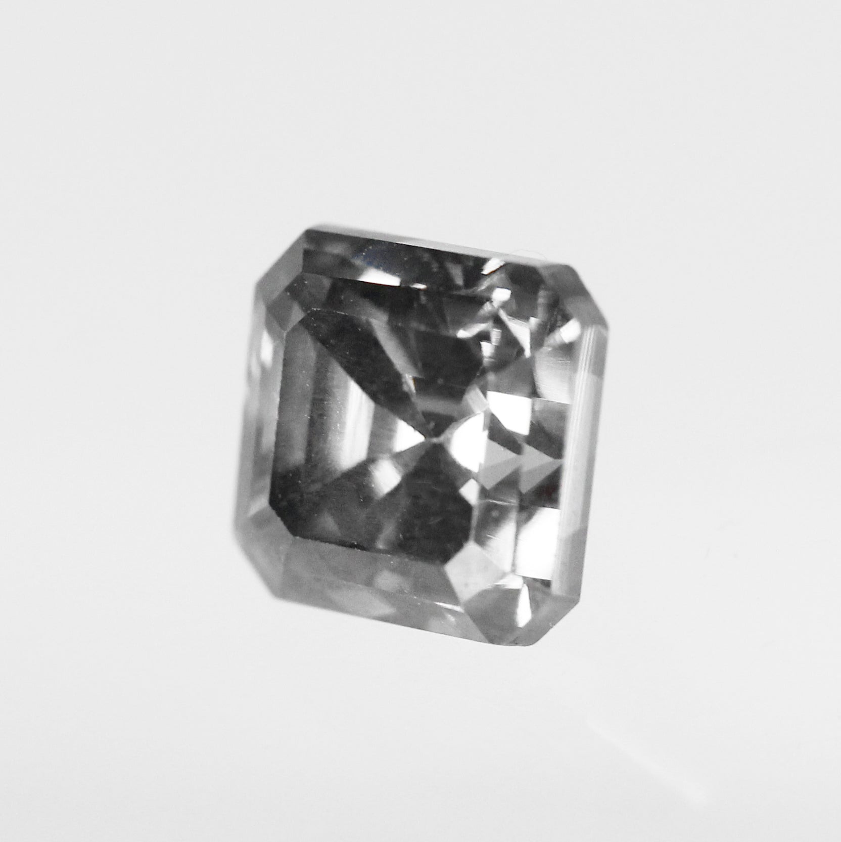 1.66 Carat Asscher Moissanite for Custom Work - Inventory Code ABMOI166 - Midwinter Co. Alternative Bridal Rings and Modern Fine Jewelry
