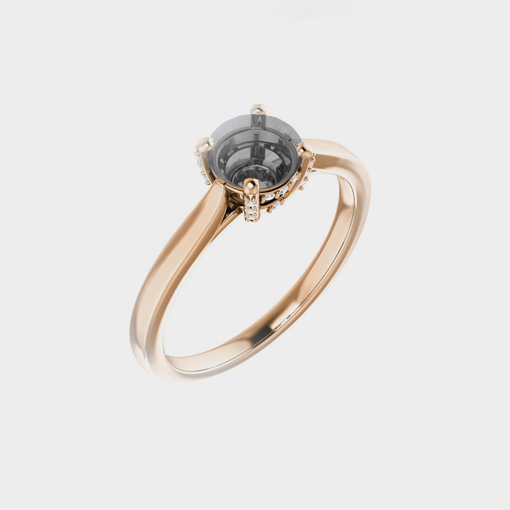 Ameena Setting - Midwinter Co. Alternative Bridal Rings and Modern Fine Jewelry