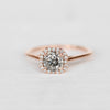 Amelia Ring with a .84ct Diamond in 14k Rose Gold Setting - Ready to size and ship