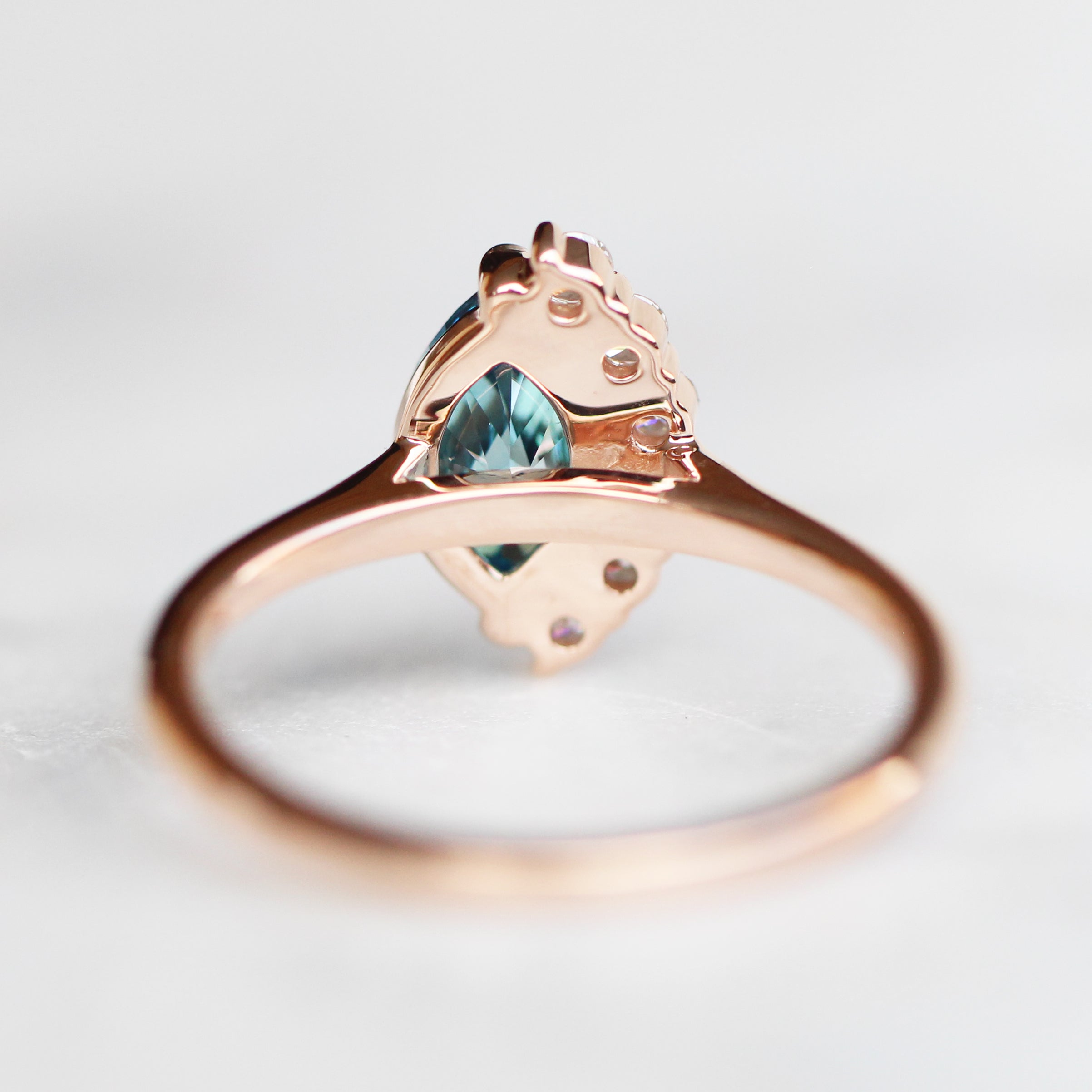 Samantha- Andrue Ring with 1.23ct Brilliant Cut Marquise Diamond in 14k Rose Gold- Ready to Size and Ship - Celestial Diamonds ® by Midwinter Co.