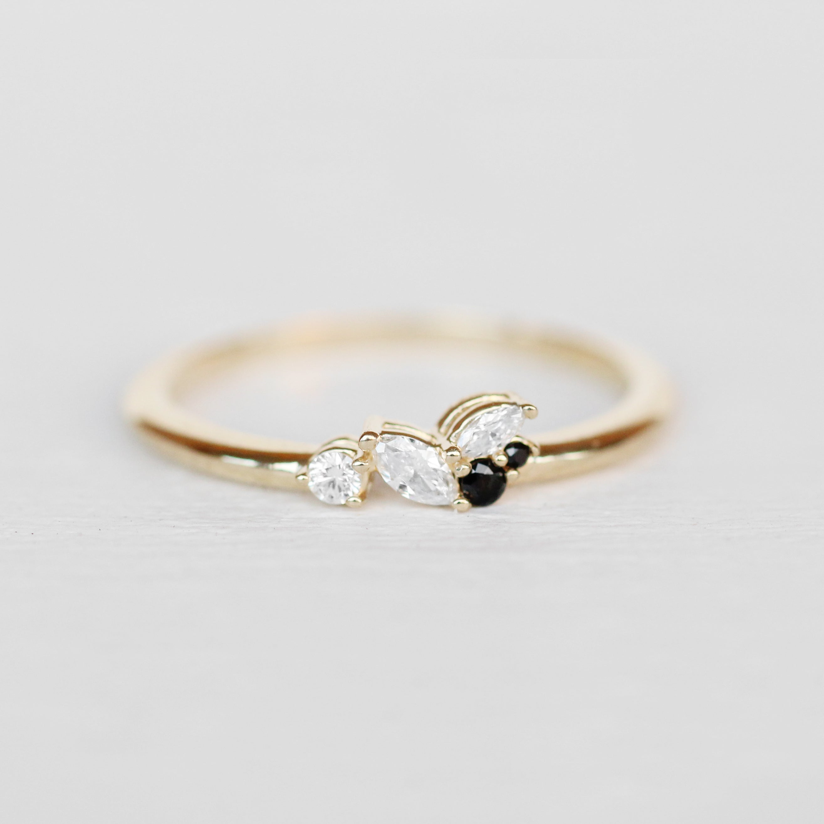 Anna Cluster Stackable or Wedding Ring - Your choice of metal - Custom - Celestial Diamonds ® by Midwinter Co.