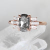 Apollo Ring with 1.05 ct oval Celestial Diamond in 10k Rose Gold - Ready to Size and Ship - Midwinter Co. Alternative Bridal Rings and Modern Fine Jewelry