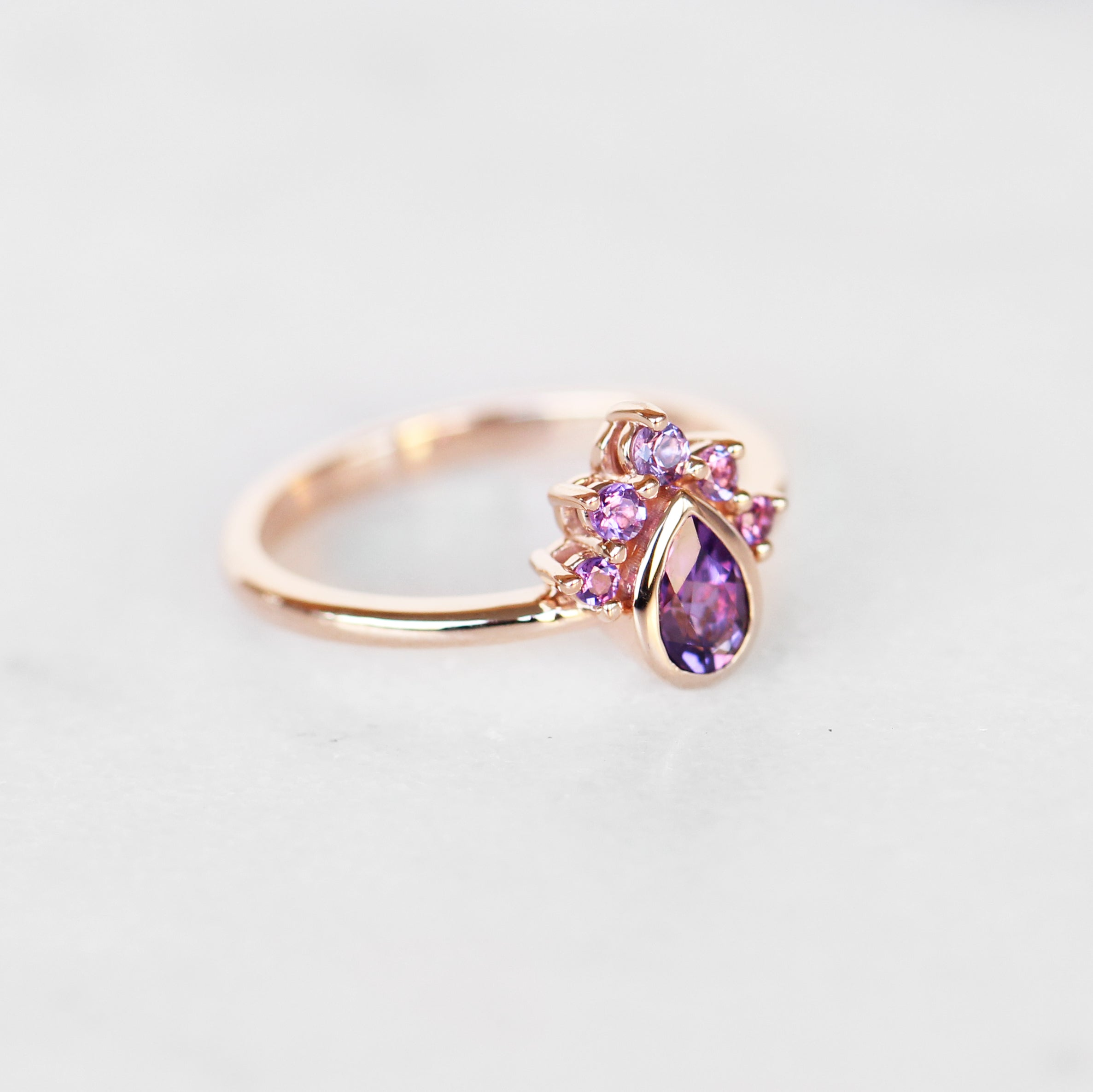 Ashlyn Amethyst Ring in 14k gold of your choice - Celestial Diamonds ® by Midwinter Co.
