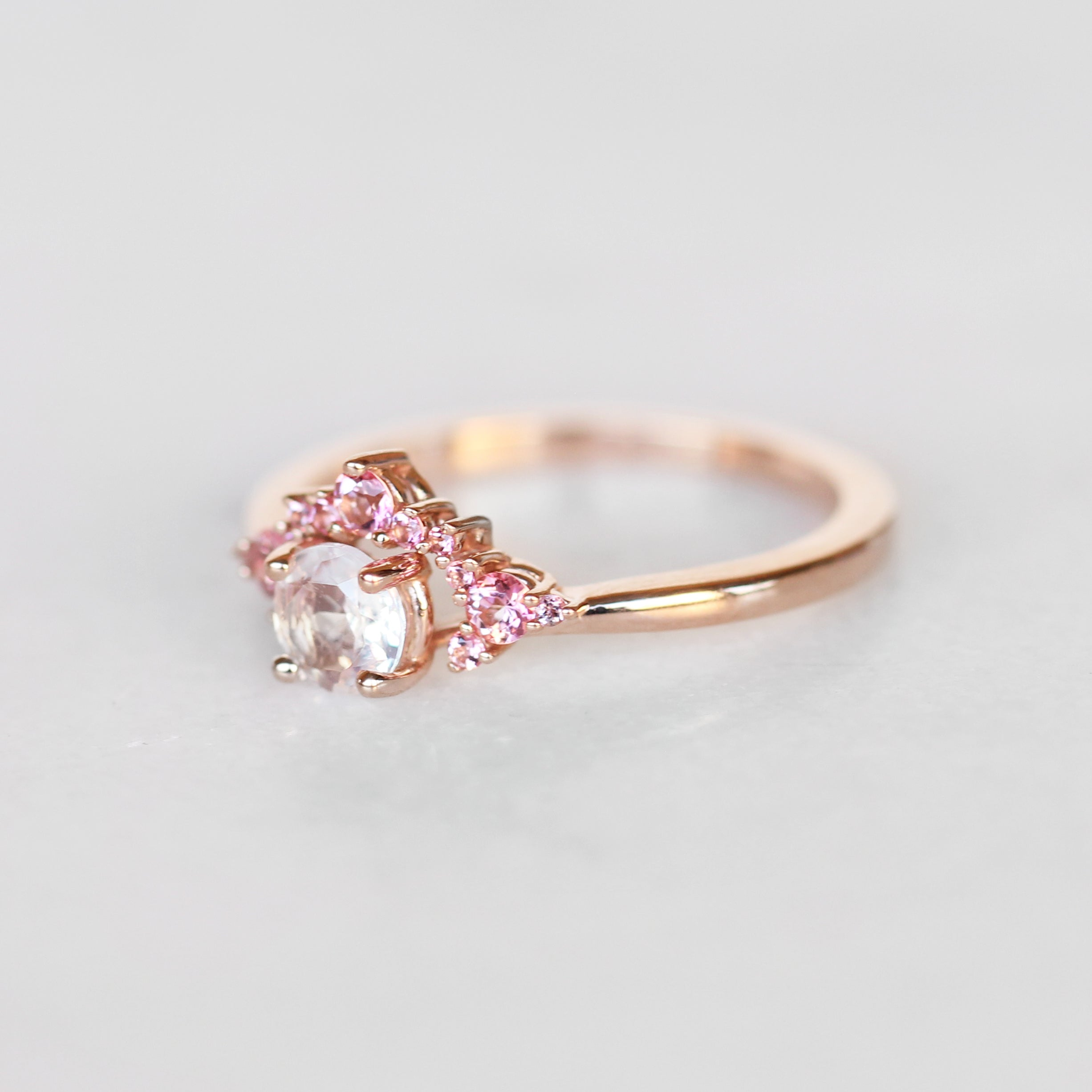 Athena Ring with a .70 ct Moonstone in Rose Gold - Celestial Diamonds ® by Midwinter Co.