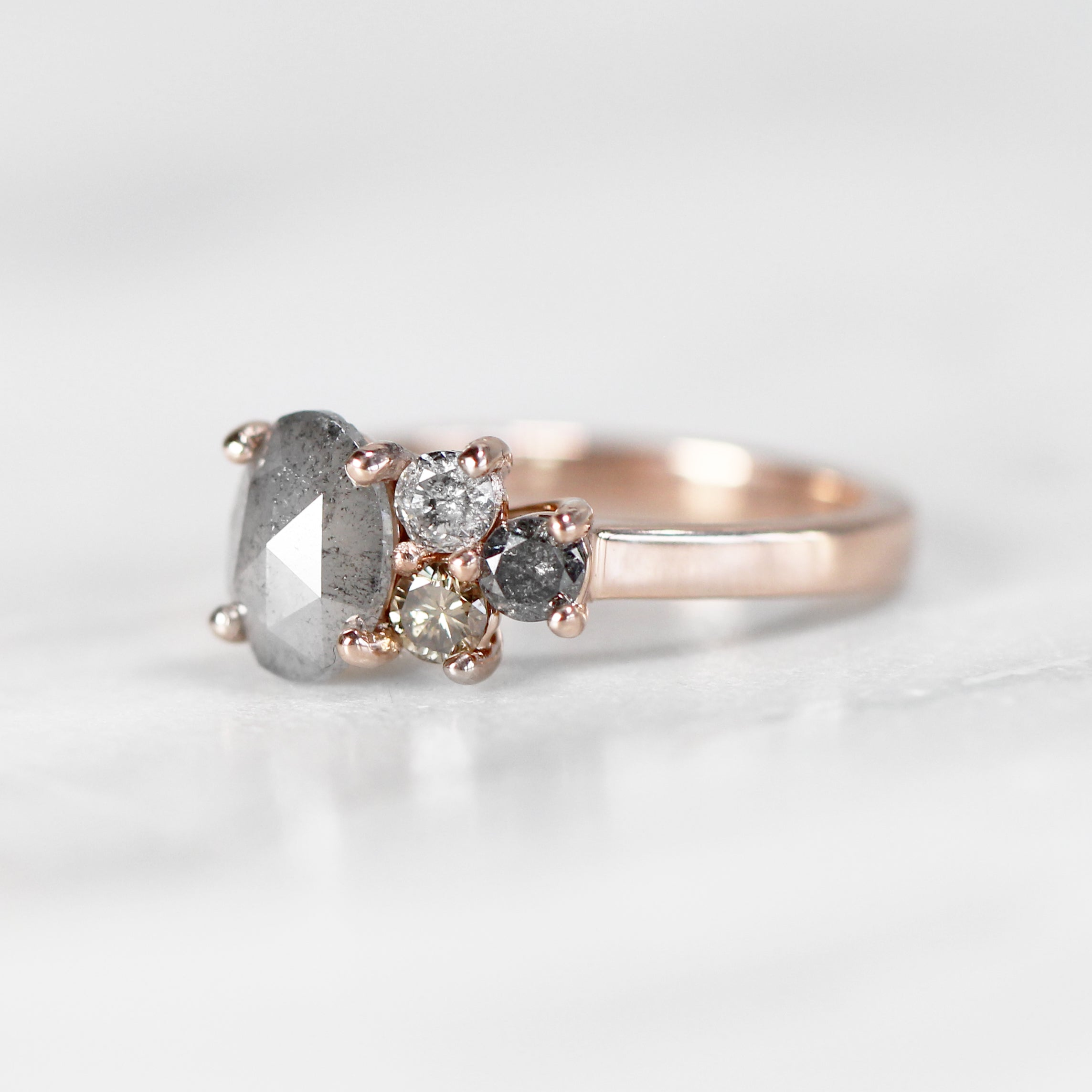 Avery Ring with 1.01 Carat Oval Celestial Diamond in 10k Rose Gold - Ready to Size and Ship - Celestial Diamonds ® by Midwinter Co.