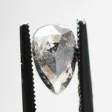 1.36ct 8.6x5.4mm Black and Gray Pear Celestial Diamond - Inventory Code BRP136