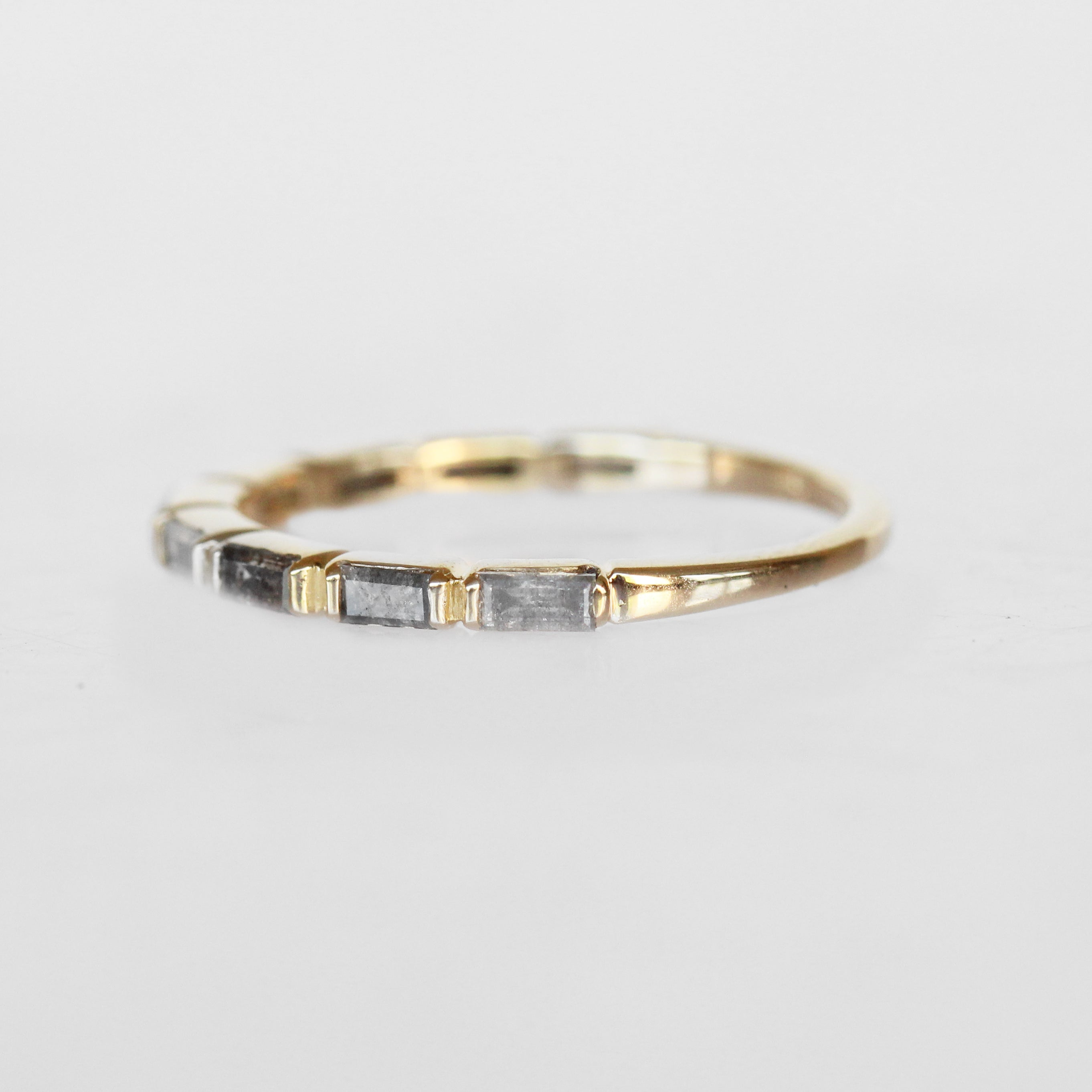 Bronte - Baguette Gray Celestial Diamond Band - Celestial Diamonds ® by Midwinter Co.