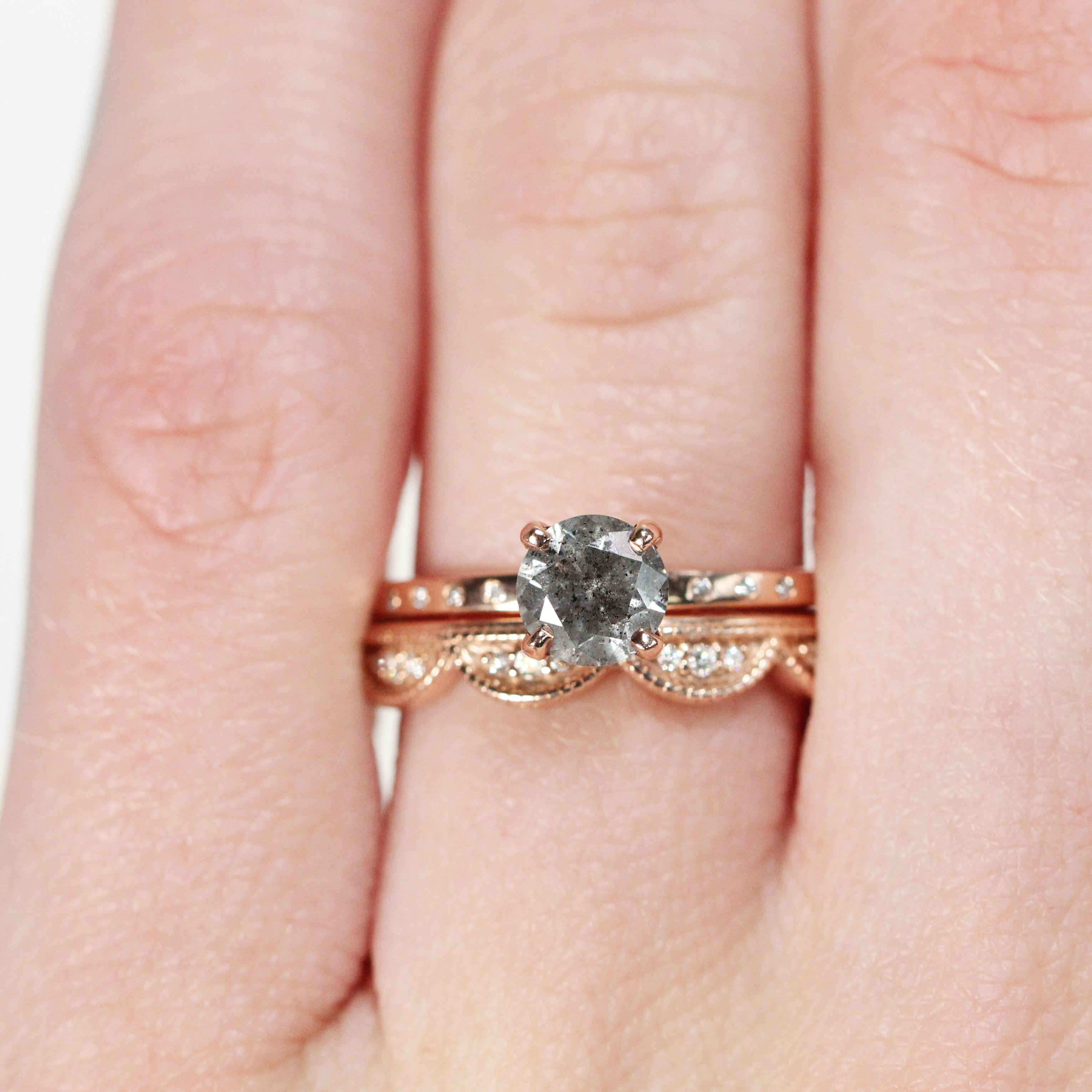 Heath Ring with an .83 ct Celestial Diamond in 14k Rose Gold - Ready to Size and Ship - Midwinter Co. Alternative Bridal Rings and Modern Fine Jewelry