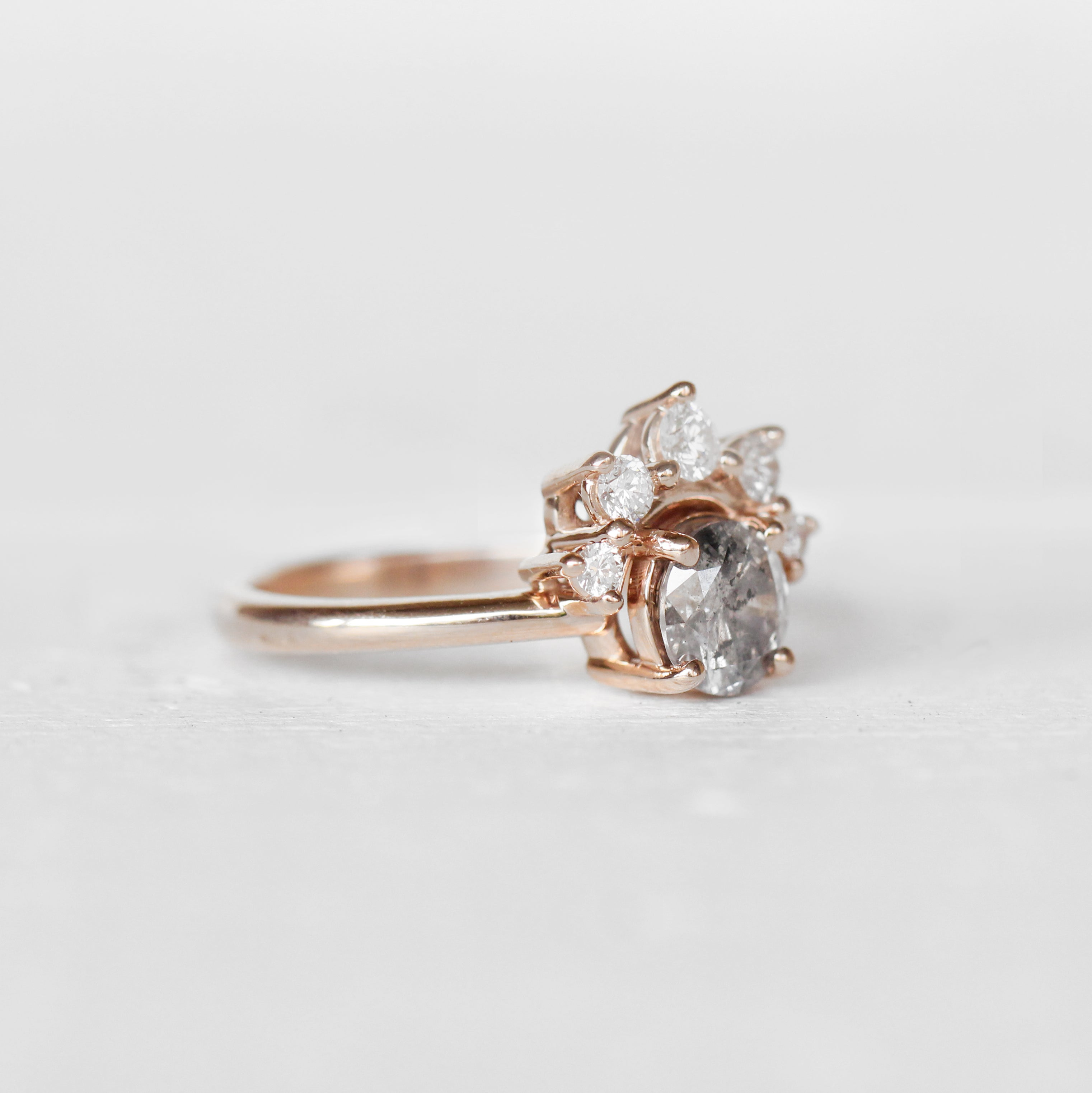 Bethany Ring + Band SET with a center 1.06 carat Celestial Diamond in 10k Rose Gold - Ready to Size and Ship - Celestial Diamonds ® by Midwinter Co.