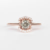 Bianca Ring with a Misty Champagne Diamond in 10k Rose Gold - Ready to Size and Ship