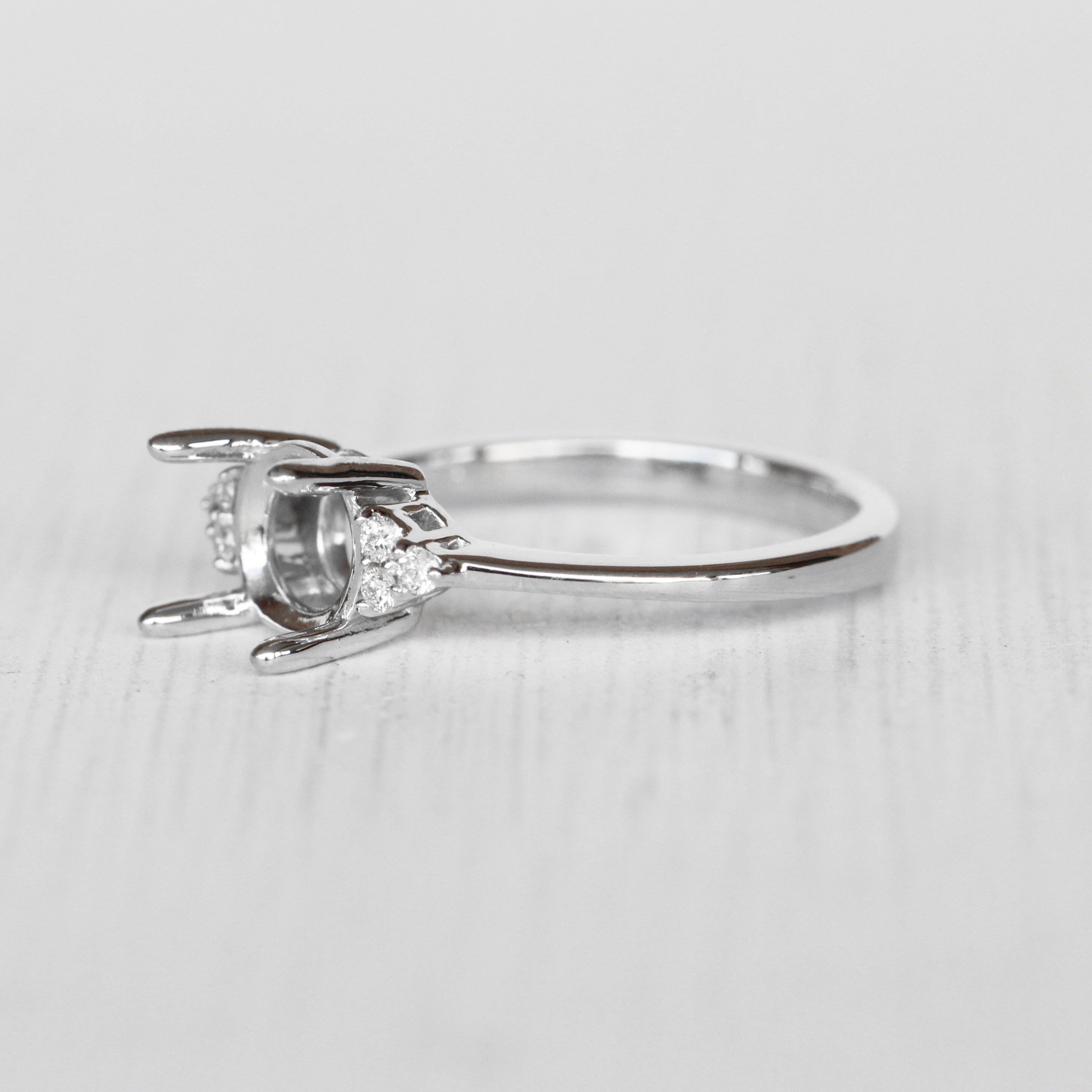 Imogene setting - Salt & Pepper Celestial Diamond Engagement Rings and Wedding Bands  by Midwinter Co.