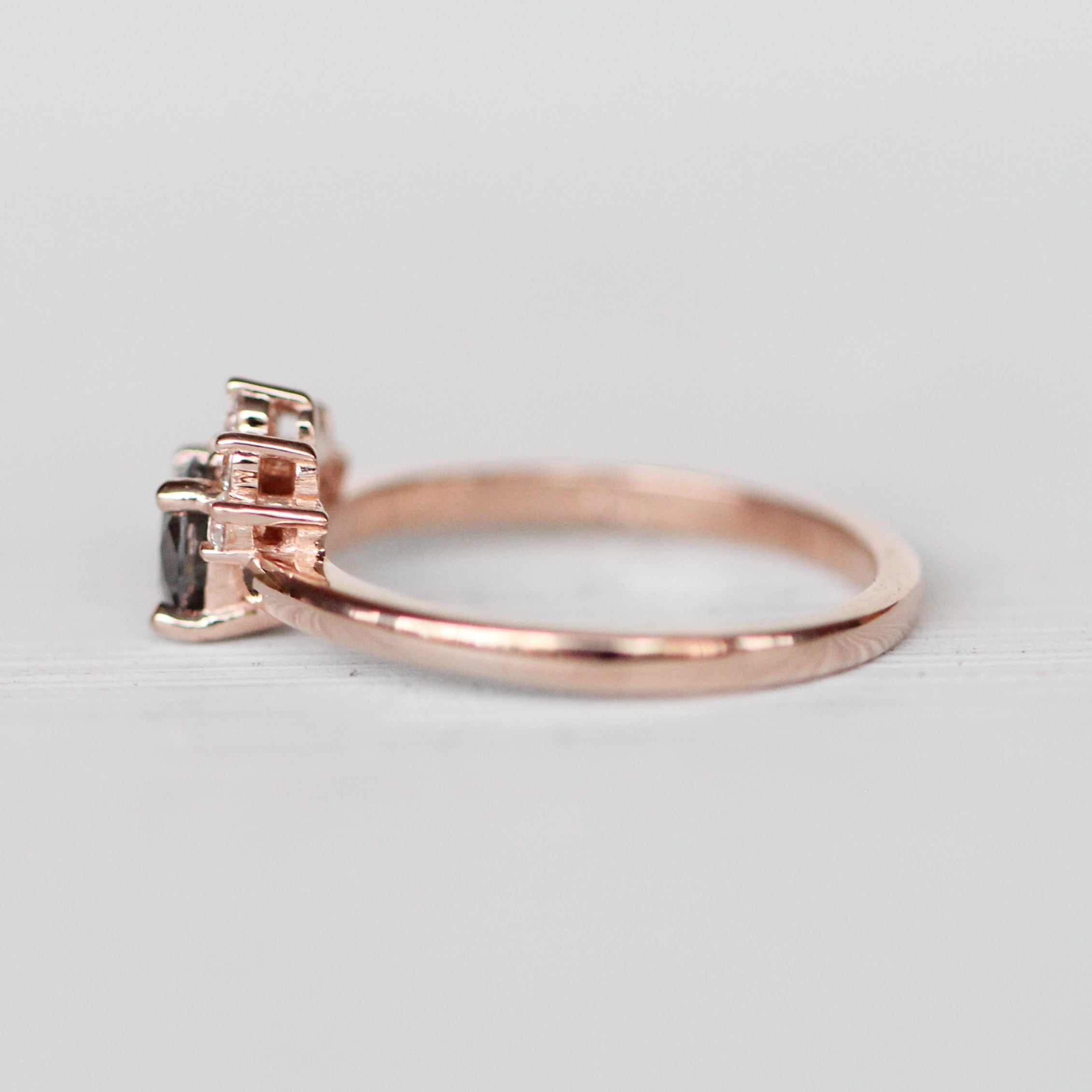 Blythe Ring with .60ct Celestial Diamond® in 10k Rose Gold - Ready to Size and Ship - Celestial Diamonds ® by Midwinter Co.